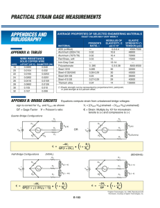 Strain Gage Calculations