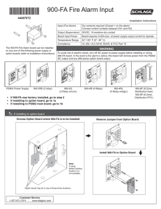 ps900-fa fire alarm input installation instructions