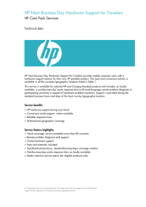 HP Next Business Day Hardware Support for Travelers data sheet