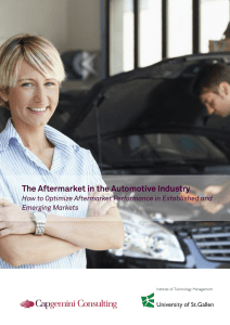 The Aftermarket in the Automotive Industry