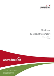 Electrical Method Statement