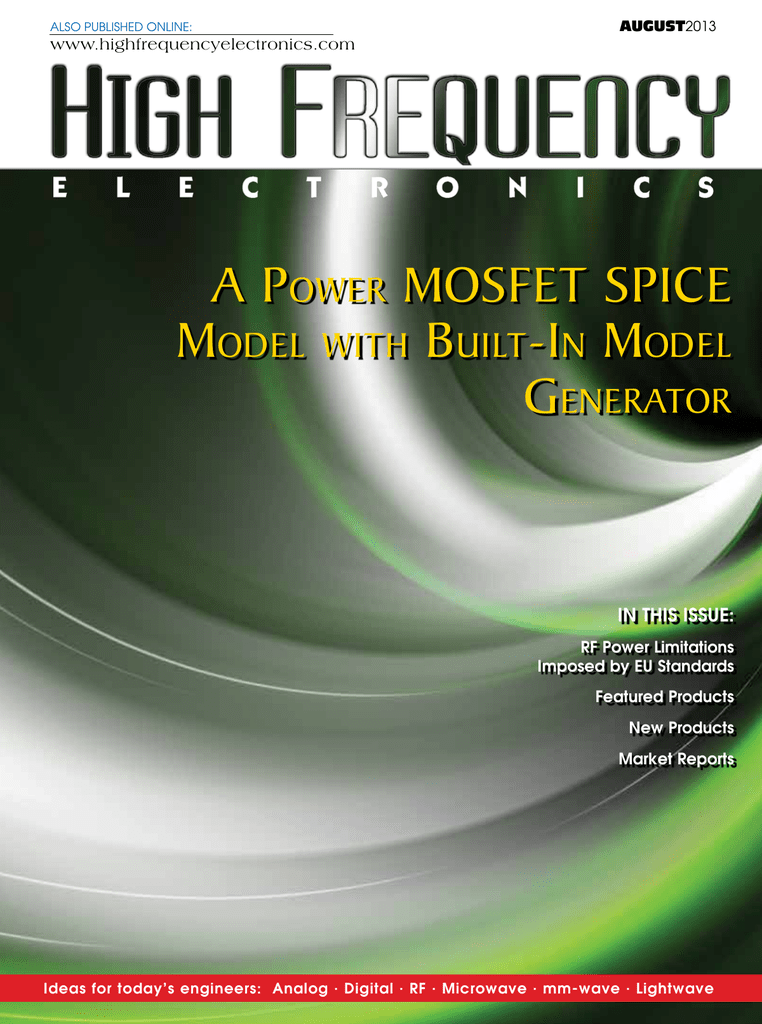 a power mosfet spice - High Frequency Electronics