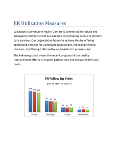 ER Utilization Measures - La Maestra Community Health Centers