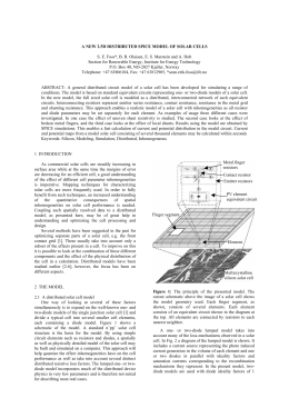 a report on the characteristics of silicon solar cells An experiment to measure the i-vcharacteristics of a silicon solar cell michael j morgan, greg jakovidis and ian mcleod characteristics of a solar cell.