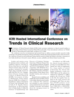 ICRI Hosted International Conference on Trends in Clinical Research