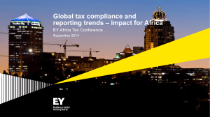 Africa Tax Conference - Global Tax Compliance and reporting trends