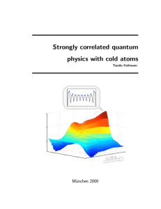 Strongly correlated quantum physics with cold atoms - Max