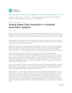 Analog-Signal Data Acquisition in Industrial Automation
