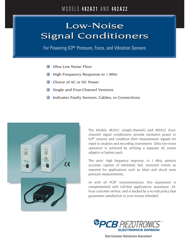 Low-Noise Signal Conditioners Low-Noise