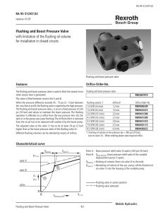 Flushing And Boost Pressure Valve