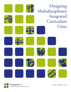 Designing Multidisciplinary Integrated Curriculum Units