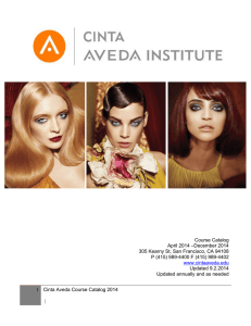 2014 Cinta Aveda Institute Course Catalog