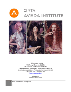 2016 Cinta Aveda Institute Course Catalog