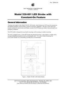 Model 530-001 LED Strobe with Constant-On Feature - GAI