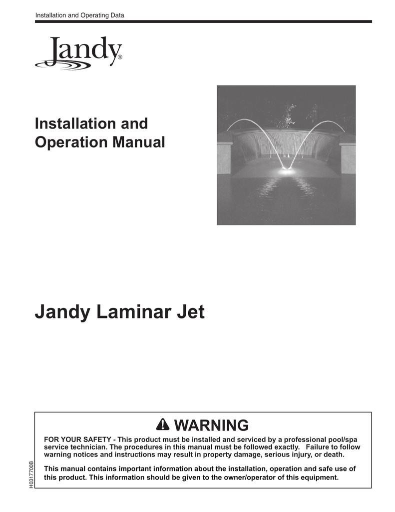 Jandy Laminar Jet I O Manual Pool Control Wiring Diagram