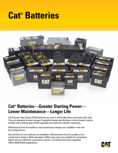 Cat® Batteries
