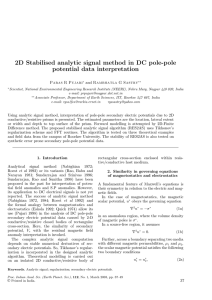 2D Stabilised analytic signal method in DC pole