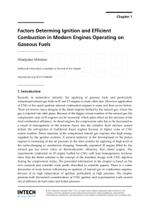 Factors Determing Ignition and Efficient Combustion in