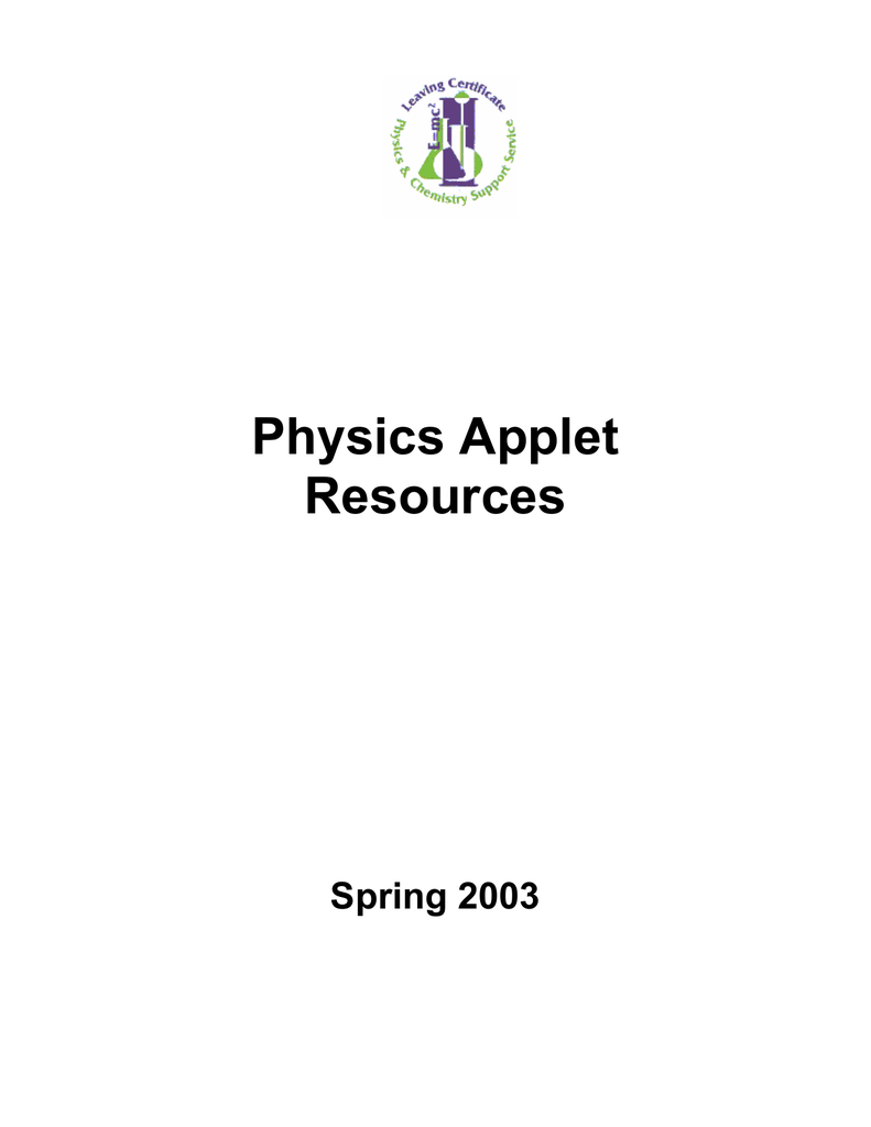 Physics Applets Physical Sciences Initiative This Java Applet Is An Electronic Circuit Simulator A Great Way To