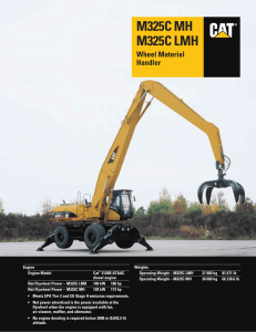 Specalog for M325C MH and M325C LMH Wheel Material Handler