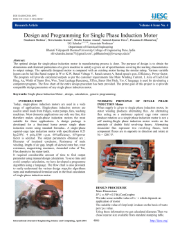 Design and Programming for Single Phase Induction Motor