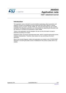 Insulated Gate Bipolar Transistor (IGBT) ST2701 Learning
