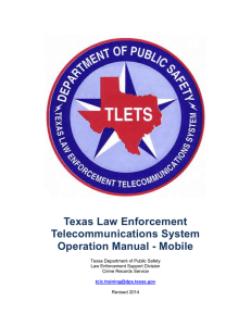 TLETS Operating Manual - Mobile - Texas Department of Public Safety