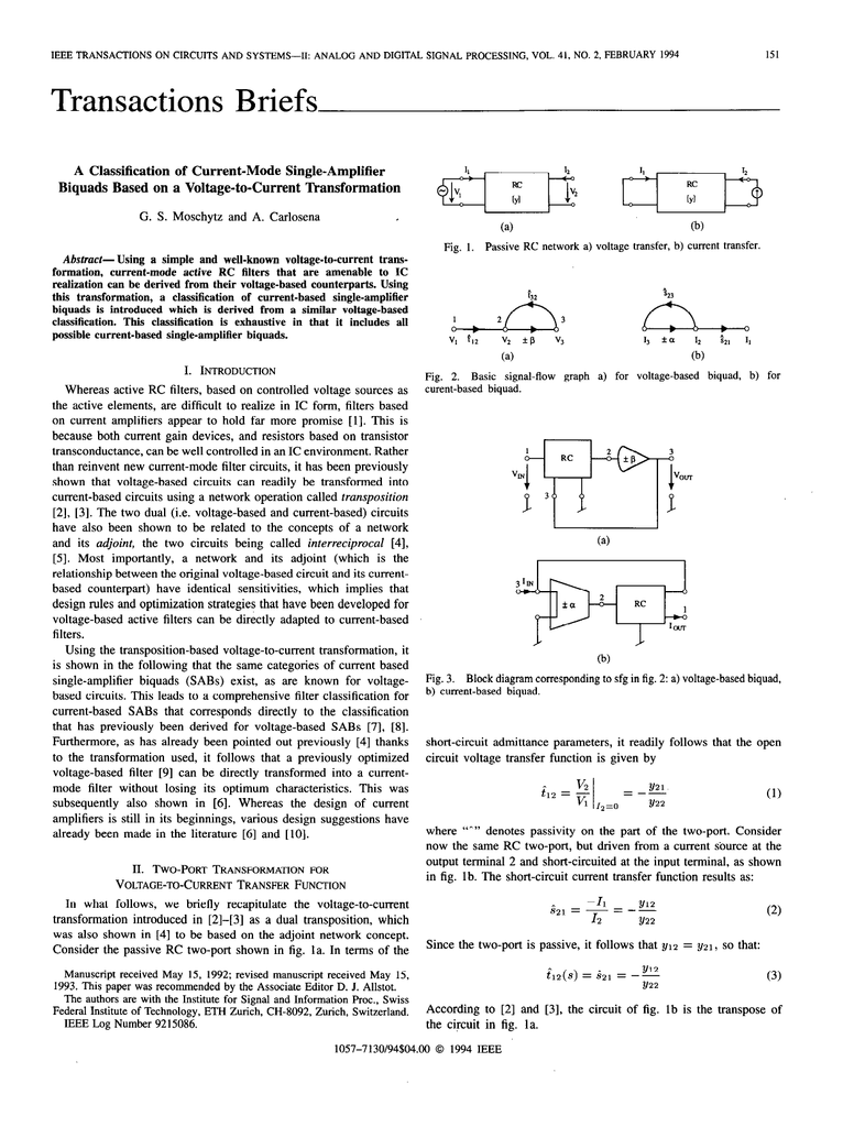 Transactions Briefs Figure 3 Simple Lowpass Rc Circuit With Source Voltage 018582424 1 14c00322fbac715cfda78b54229cb8fd