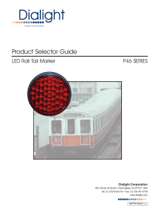 LED Rail Tail Marker Lamp Selector Guide