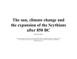 The sun, climate change and the expansion of the Scythians after