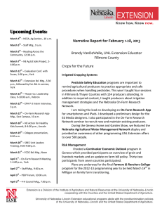 Narrative Report for July 1-31, 2006