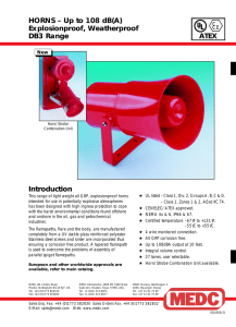 HORNS – Up to 108 dB(A) Explosionproof
