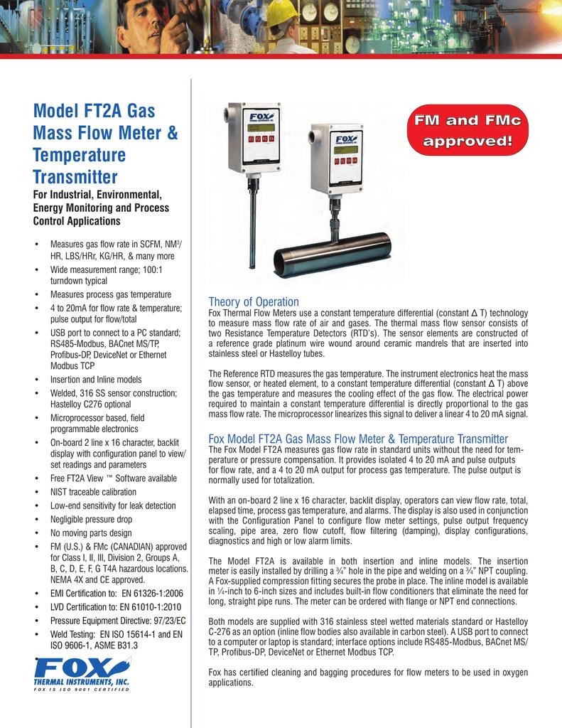 Fox Model Ft2a Datasheet Thermal Instruments Pyromation Rtd Wiring Diagram