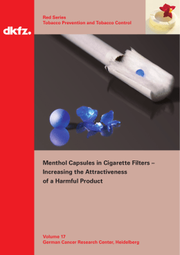 Menthol Capsules in Cigarette Filters – Increasing the