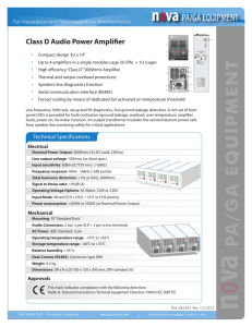 NOVA PA/GA - Audio Power Amplifier - GAI