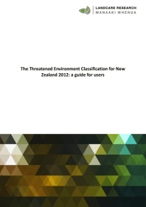 The Threatened Environment Classification for New Zealand 2012