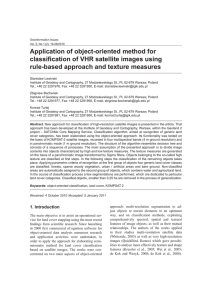 Application of object-oriented method for classification of VHR