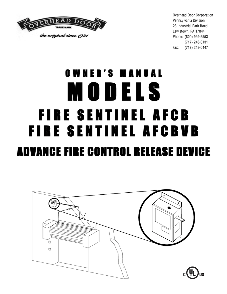 Fire Sentinel Afcb Afcbvb Owners Manual End Of Line Resistors Eolr For Normally Open And Closed Circuits