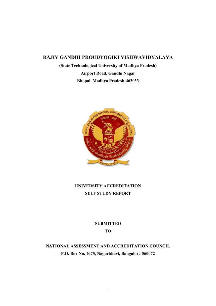 Naac-Self Study Report-RGPV