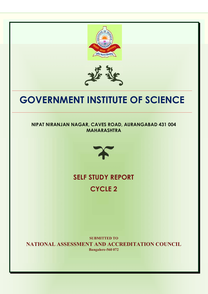 2014 including Annexures - Government Institute of Sciences