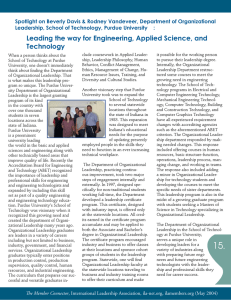 Leading the way for Engineering, Applied Science, and Technology