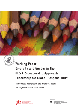 Working Paper Diversity and Gender in the GIZ/AIZ
