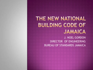 THE NEW NATIONAL BUILDING CODE OF jAMAICA