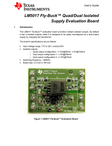 LM5017 Fly-Buck™ Quad/Dual Isolated Supply Evaluation Board