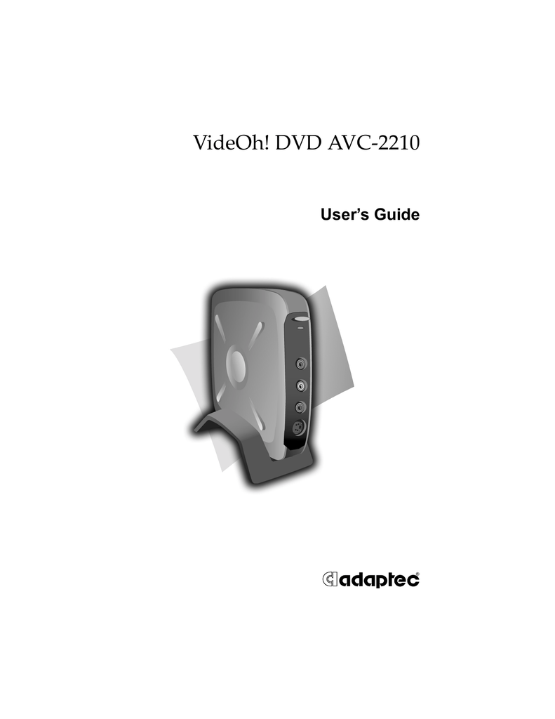 ADAPTEC AVC-2210 DRIVER PC
