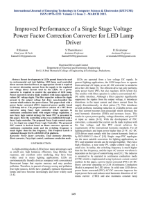 Improved Performance of a Single Stage Voltage Power Factor