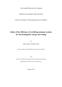 Study of the efficiency of rectifying antenna systems for