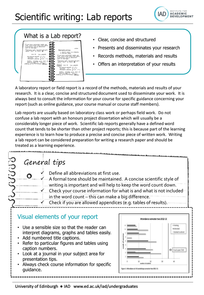 materials and methods example lab report