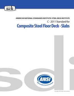 Composite Steel Floor Deck - Slabs
