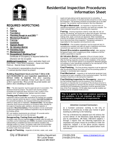 Residential Inspection Procedures